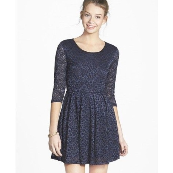 c69140c7a8aa Lush Dresses   Skirts - Lush Textured Floral Lace Skater Dress
